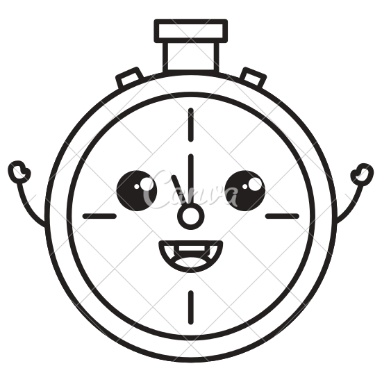 550x550 Chronometer Timer Cute Character