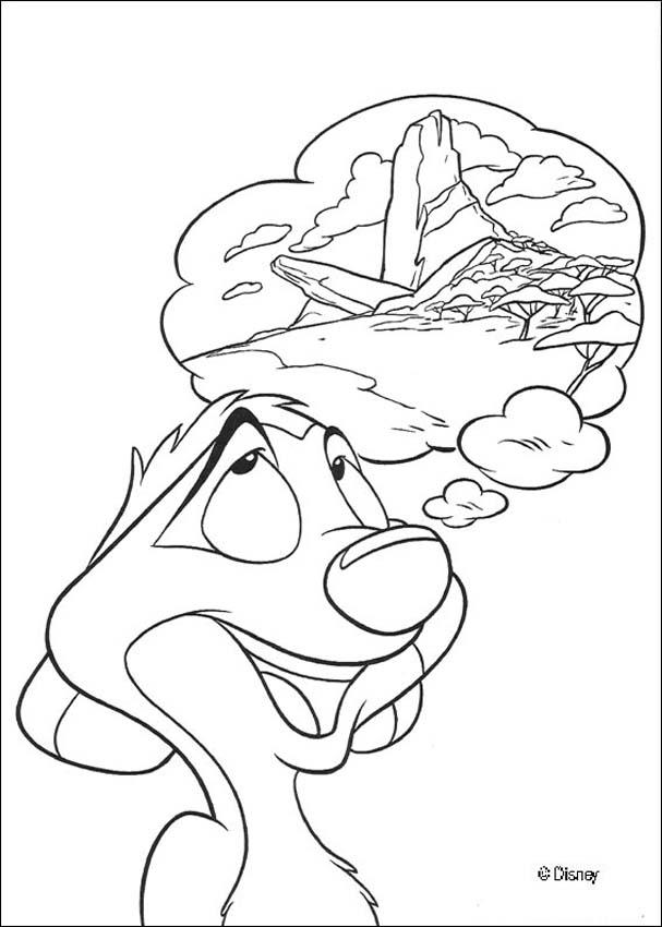 607x850 Timon And Pumbaa Best Friends Coloring Pages