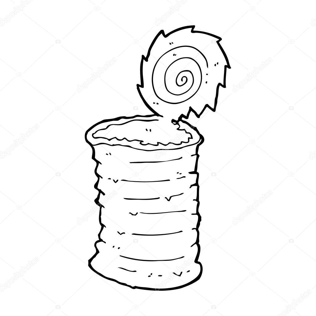 Tin Can Drawing at GetDrawings.com | Free for personal use Tin Can ... for tin can clipart black and white  131fsj