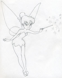 220x275 Draw Tinkerbell Is Very Easy