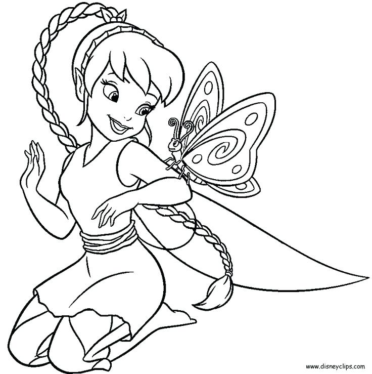 736x739 Tinkerbell Coloring Pages Pictures Fawn Coloring Pages In Line