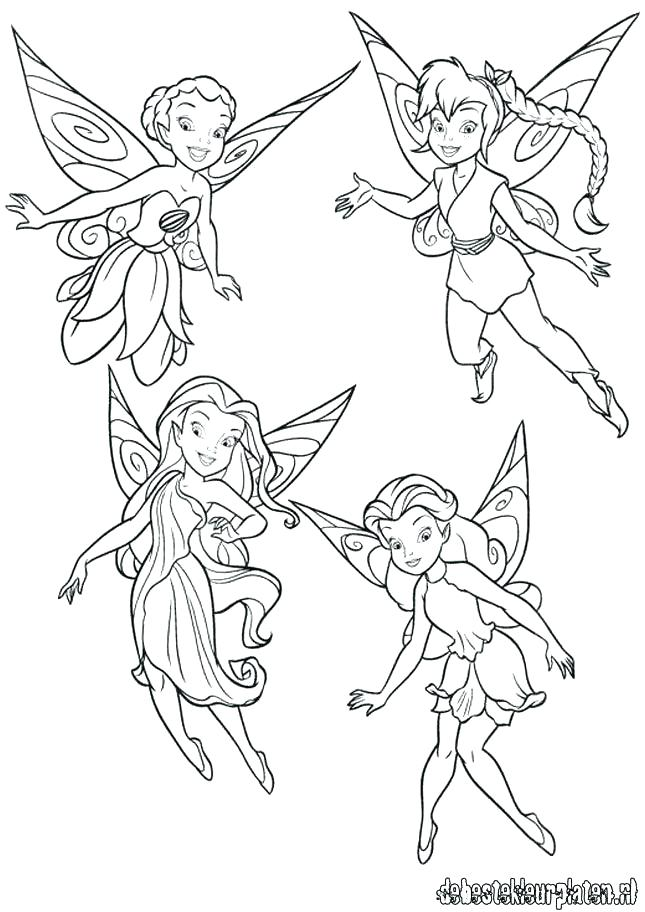 Tinkerbell And Friends Drawing At Getdrawingscom Free For