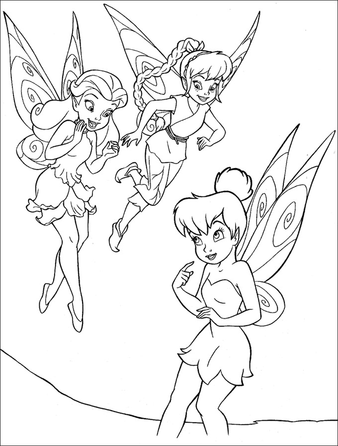 680x897 Coloring Pages Of Tinkerbell And Her Fairy Friends Coloring Page