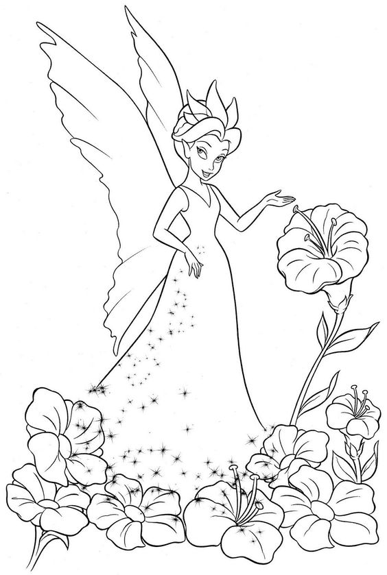 564x839 Coloring Pages Of Tinkerbell And Friends