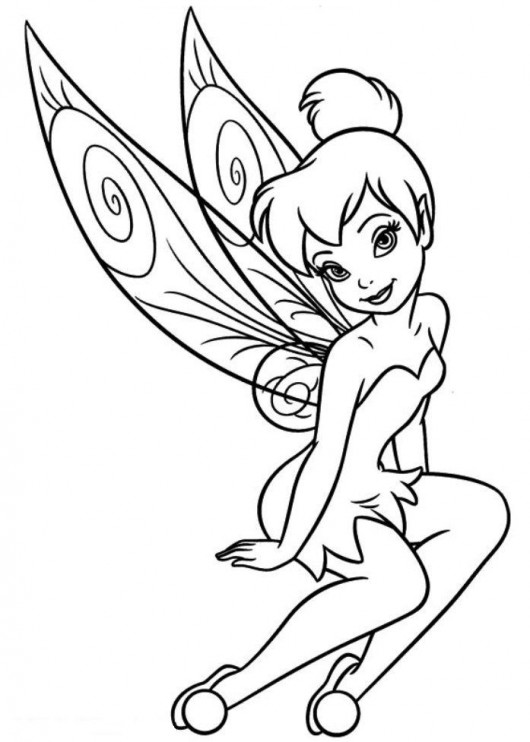 530x742 Tinkerbell Coloring Pages (10)