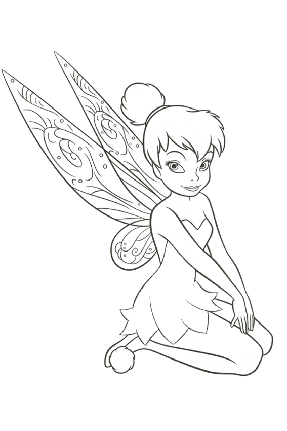 567x850 Tinkerbell Coloring Pages Overview With A Lot Of Fairies