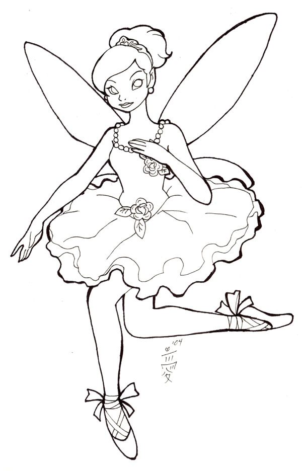 600x936 Pretty Tinkerbell Lineart By Aichan25