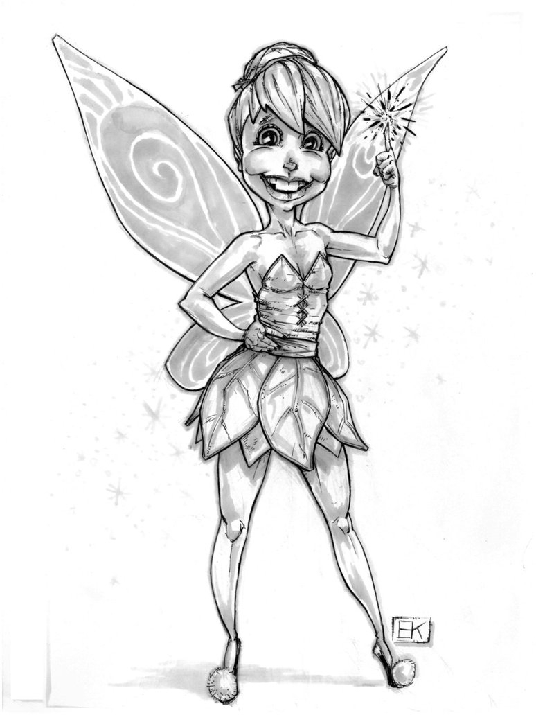 774x1032 Tinkerbell Drawing Sketches