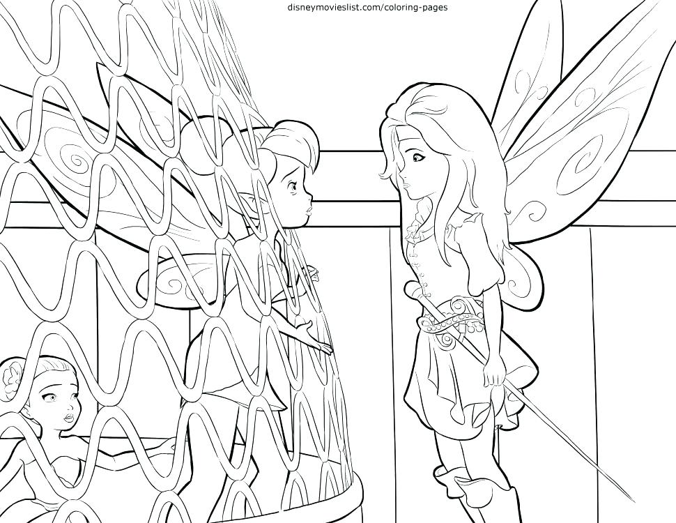 970x750 Tinkerbell Fairies Coloring Pages Flying Around With Some Other