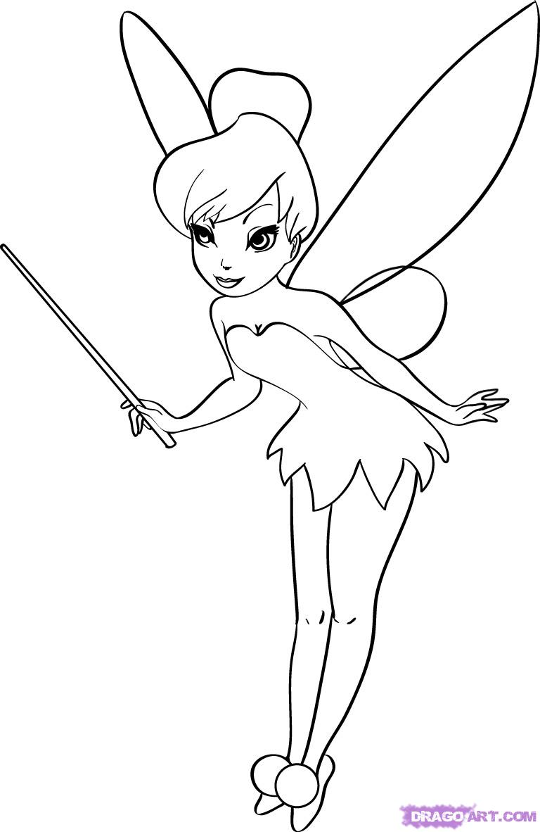 Tinkerbell Drawing Pictures At GetDrawings