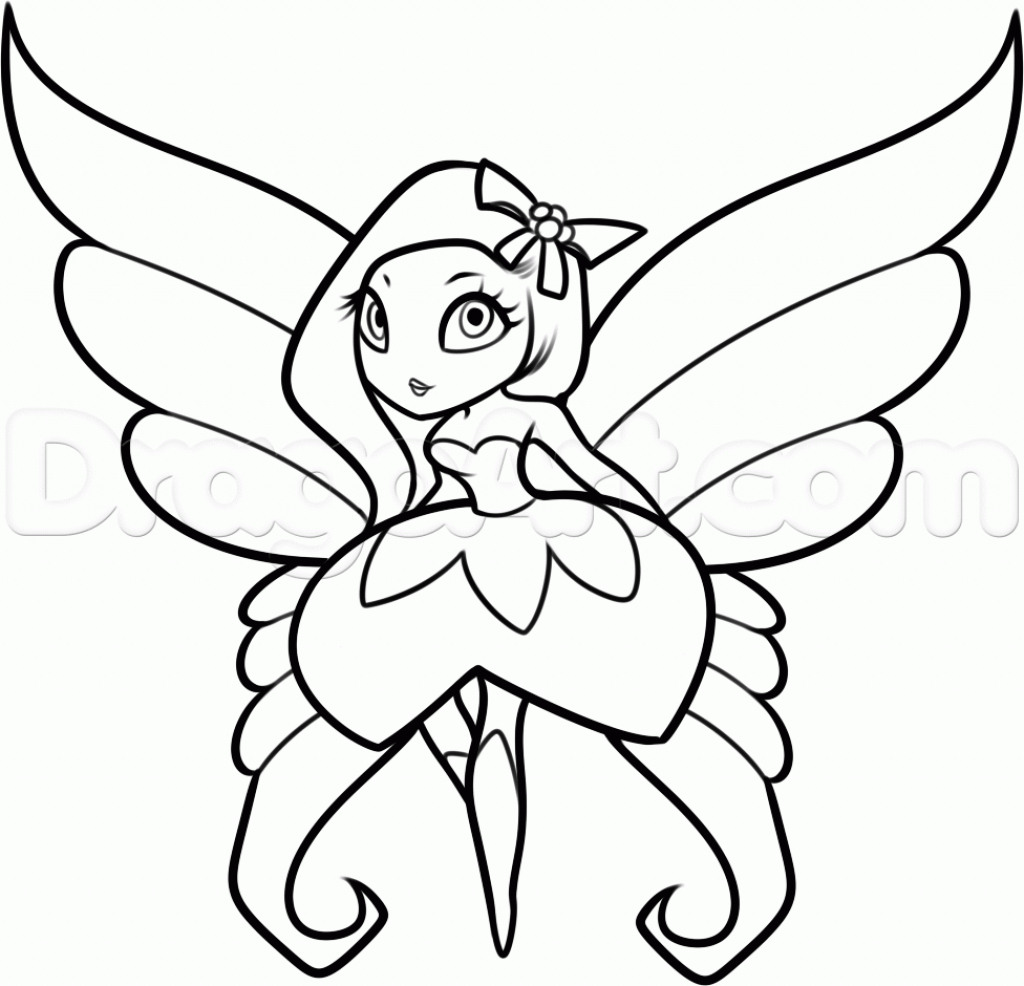 1024x986 Fairy Sketch Step By Step Fairy Drawing. How To Draw Tinkerbell