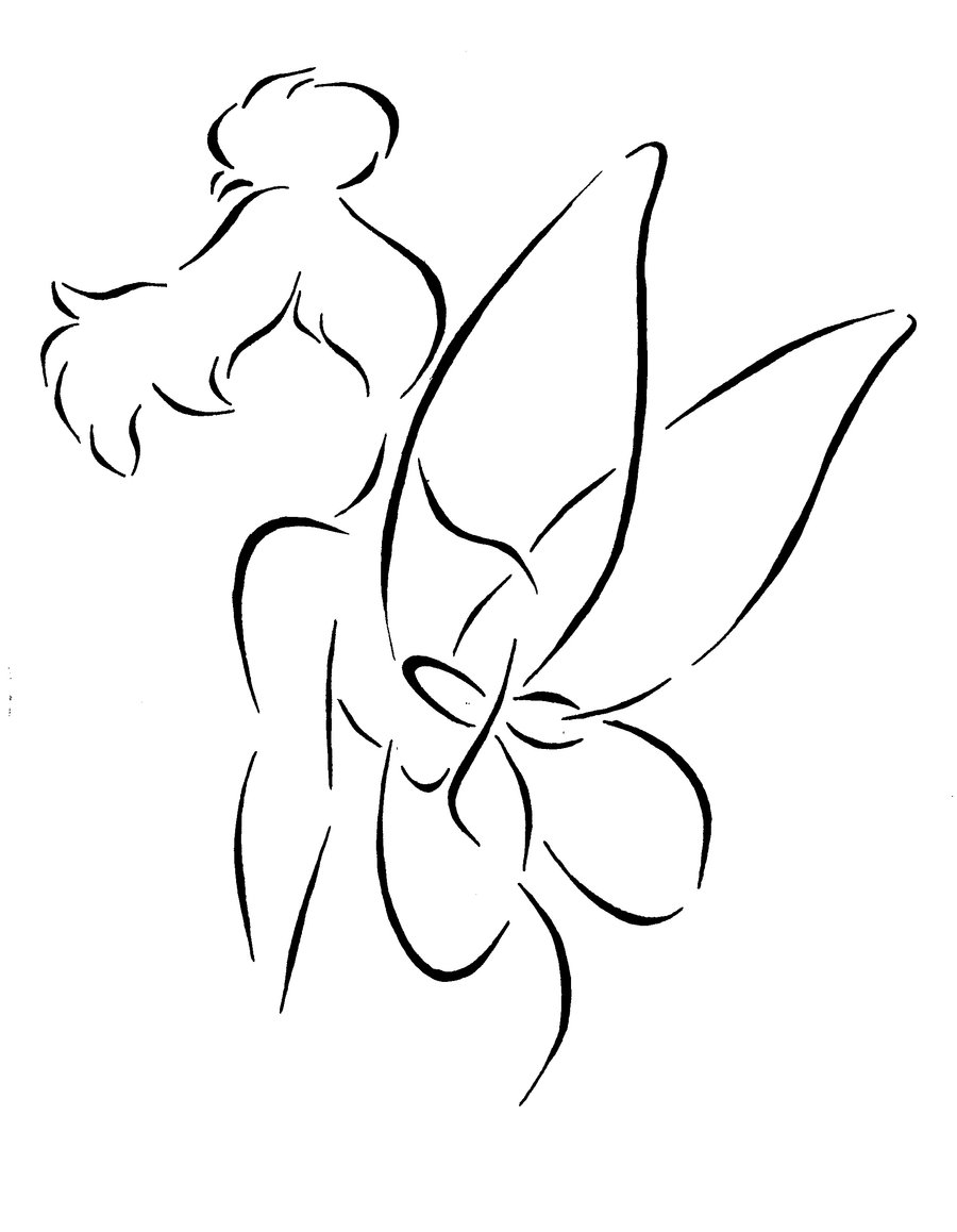 900x1158 I'Ve Always Wanted A Fairy Tattoo So This Outline Of Tinkerbell Is