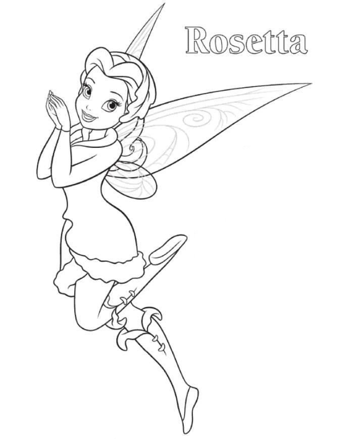 697x870 Coloring Pages Of Tinkerbell And Her Fairy Friends Page