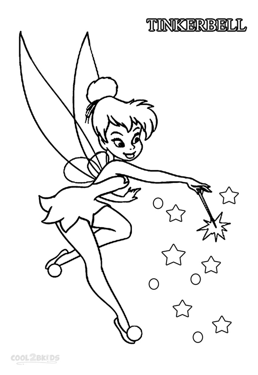 Tinkerbell Outline Drawing at GetDrawings.com | Free for ...