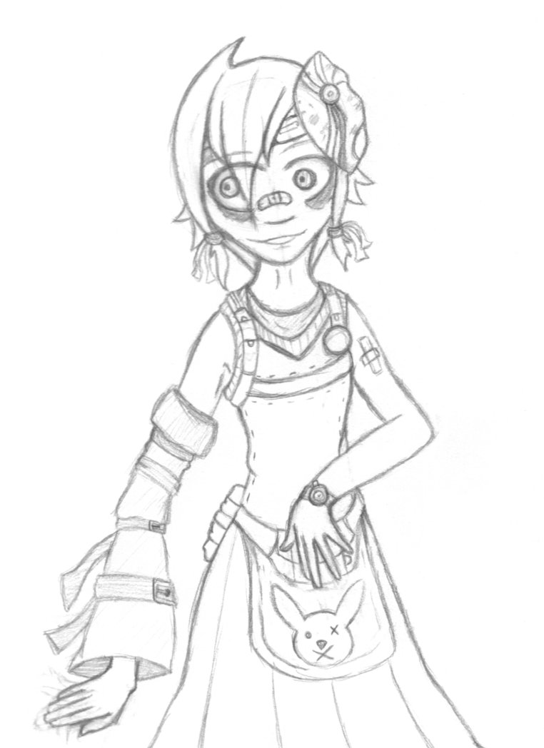 762x1048 Tiny Tina Sketch (Old Sketch) By Milesfreelow