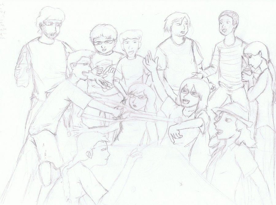 900x668 Me And My Friends Sketch By Tiny Ruffian