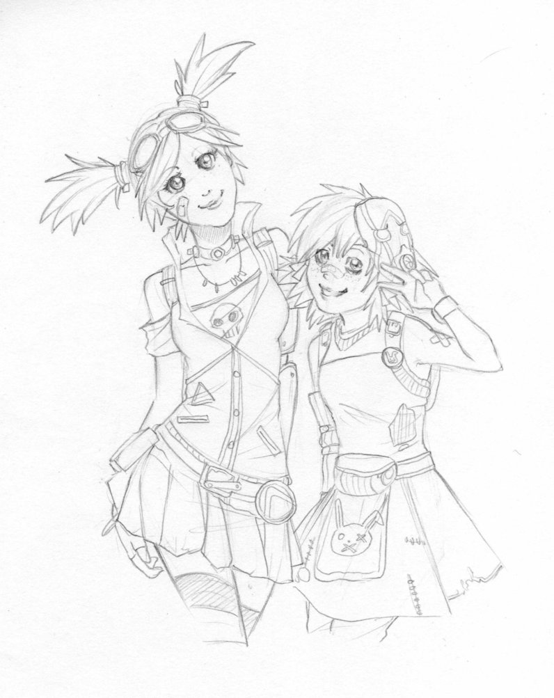 796x1003 Gaige And Tiny Tina By Gamu Chan