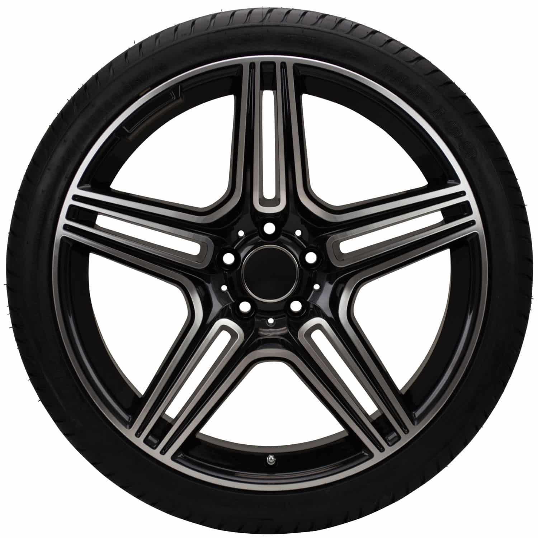 1500x1500 20 Replica Mercedes Benz Machine Facedlack Wheel And Tire