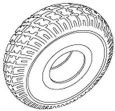 230x222 Jazzy Foam Filled Tire (Tirsoli1020)