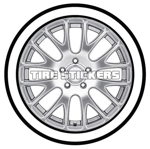 522x518 White Walls Tire Stickers Canada