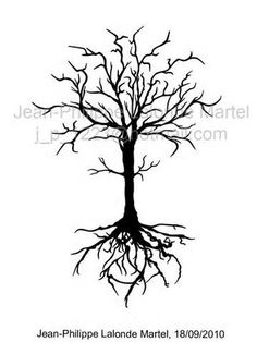 236x314 Realistic Old Dead Tree With A Tire Swing Tattoo Inspiration
