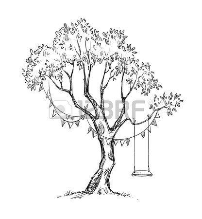 416x450 3,211 Tree Swing Stock Illustrations, Cliparts And Royalty Free