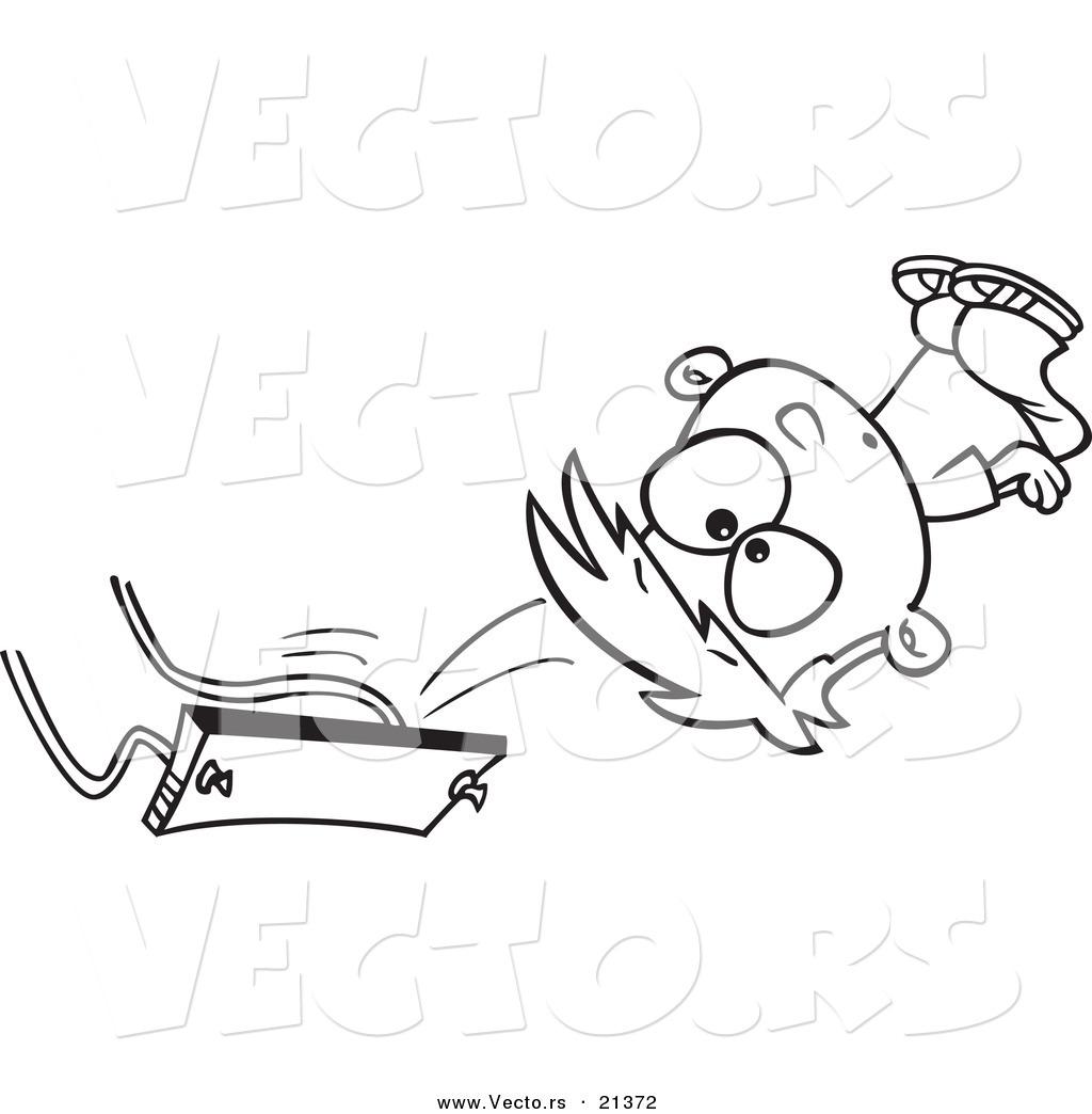 1024x1044 Vector Of A Cartoon Boy Falling Off A Swing