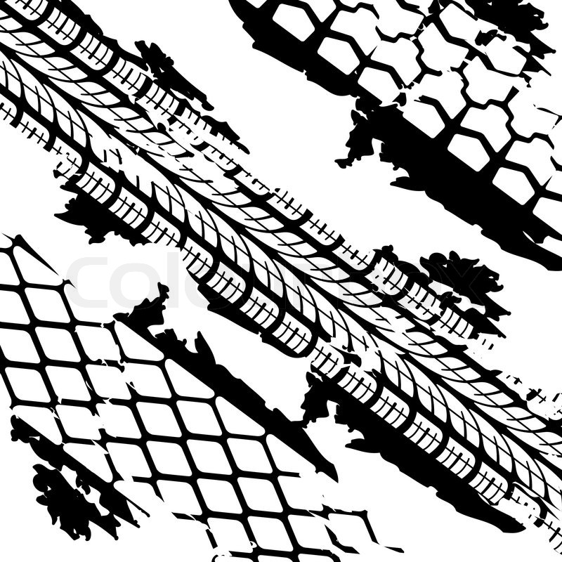 Tire Tracks Drawing