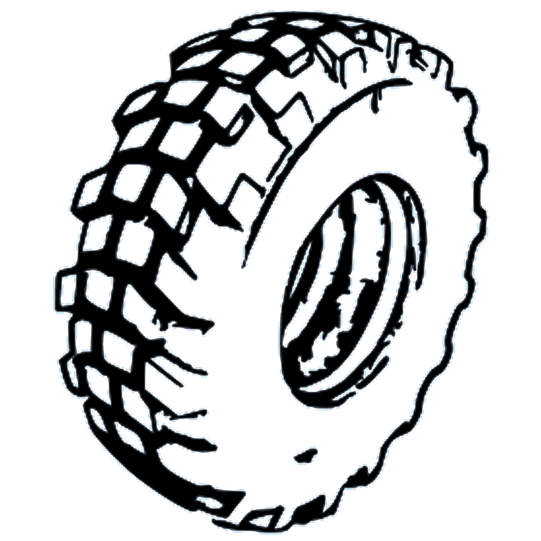 3000x3000 Mud Tire Clipart