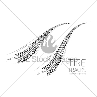 325x325 Tire Tracks Background Gl Stock Images