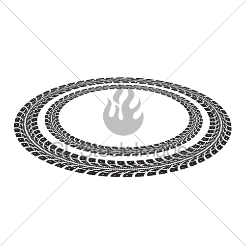 500x500 Tire Tracks Gl Stock Images
