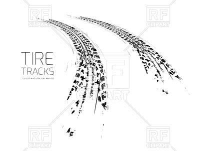 400x303 Tire Tracks Background Royalty Free Vector Clip Art Image