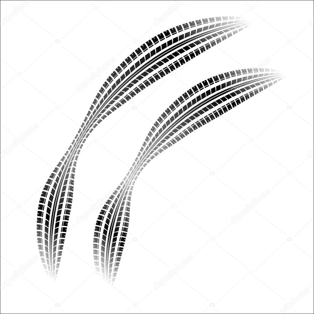 1024x1024 Tire Tracks With Gradient Stock Vector Longquattro