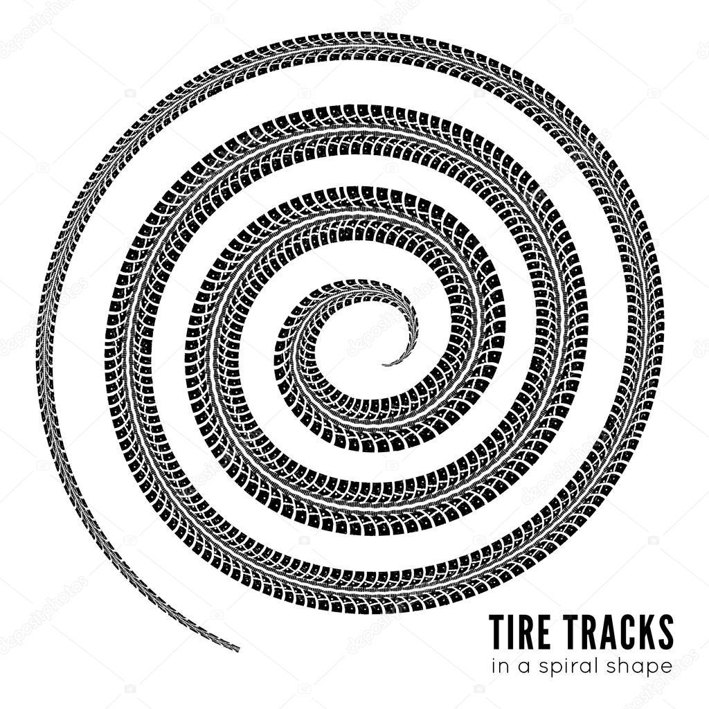 1024x1024 Tire Tracks Stock Vector Mpavlov