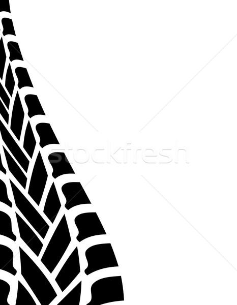 466x600 Black White Tire Track Background Vector Illustration Maria