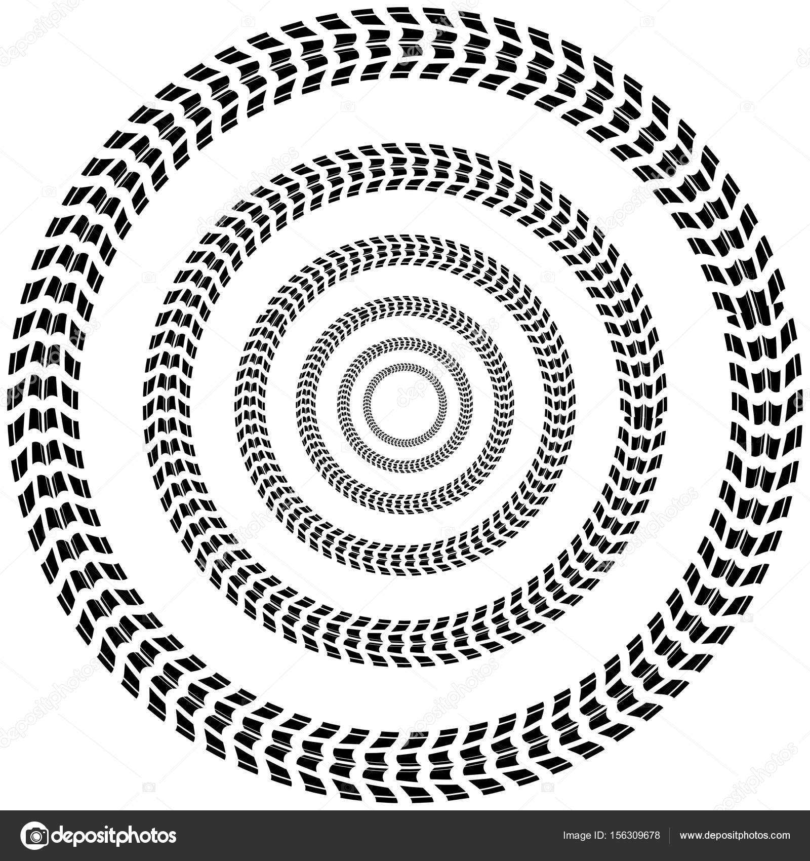 1600x1700 Circle Tire Track Background Stock Vector Longquattro