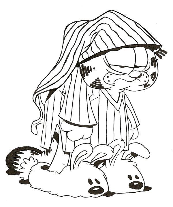 600x721 Tired Grumpy Garfield By Skipbear