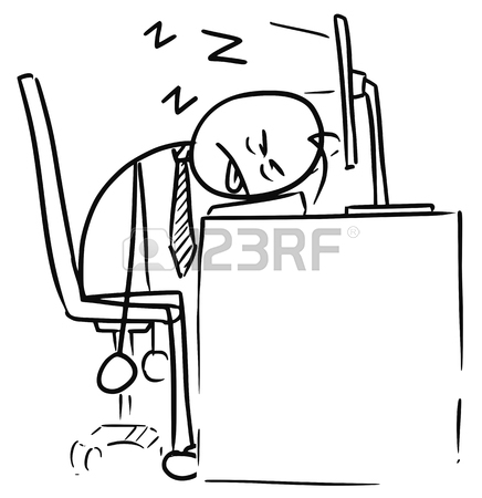 436x450 Cartoon Vector Doodle Exhausted Tired Stickman Man Sleeping