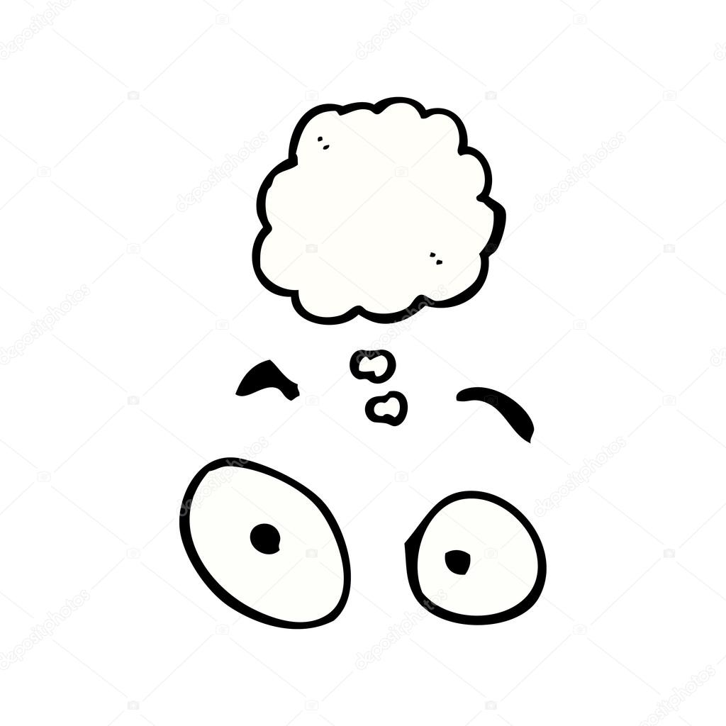 1024x1024 Tired Eyes With Thought Bubble Stock Vector Lineartestpilot