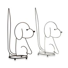 236x236 Standing Dog Toilet Paper Holder In Oil Rubbed Bronze