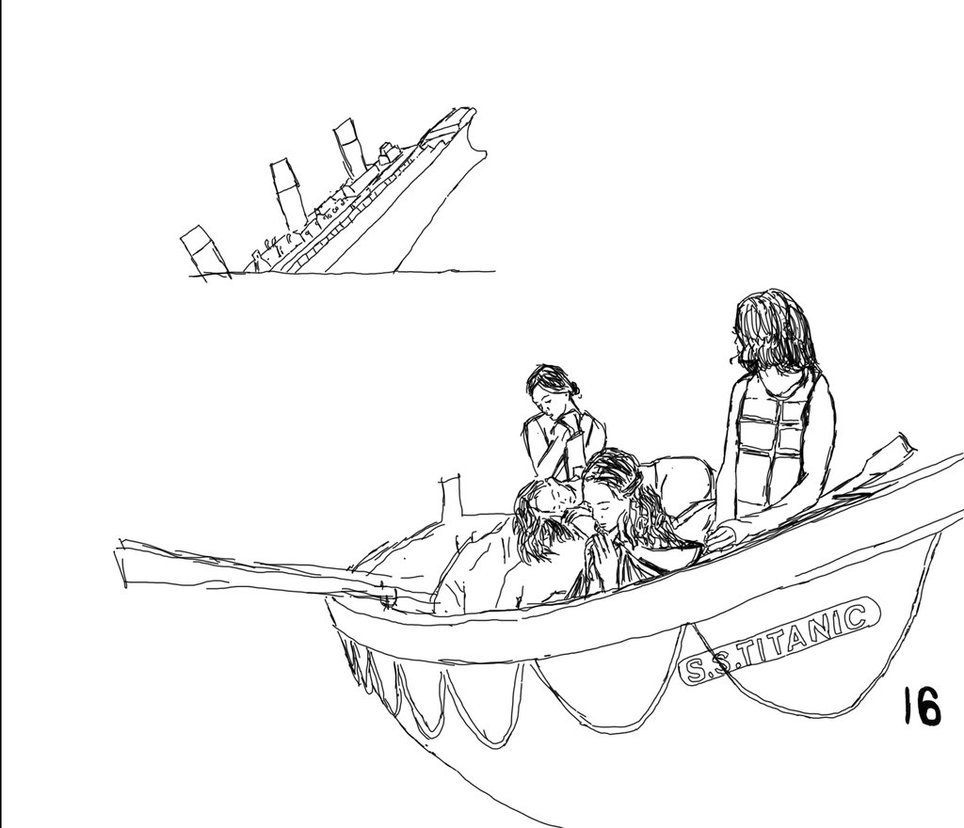 964x828 Titanic 2015 Lifeboat 16 Sketch By Devongailweber