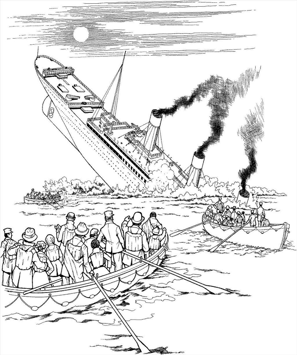 1024x1225 Best Titanic Coloring Pages Picture Unknown Resolutions High