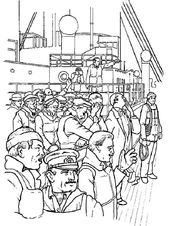 600x725 Titanic The Movie Coloring Pages Batch Coloring