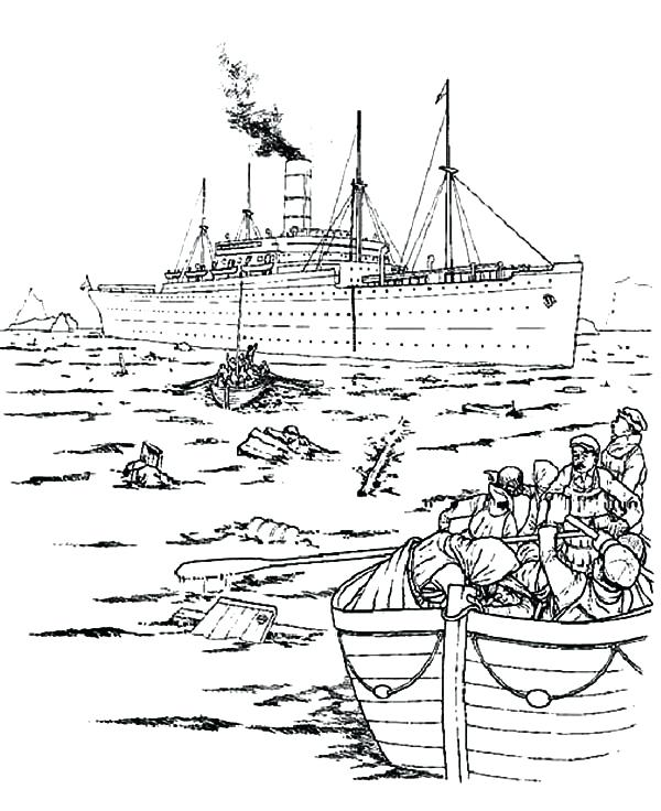 600x736 Top Rated Titanic Coloring Pages Pictures The Survivor Of Titanic