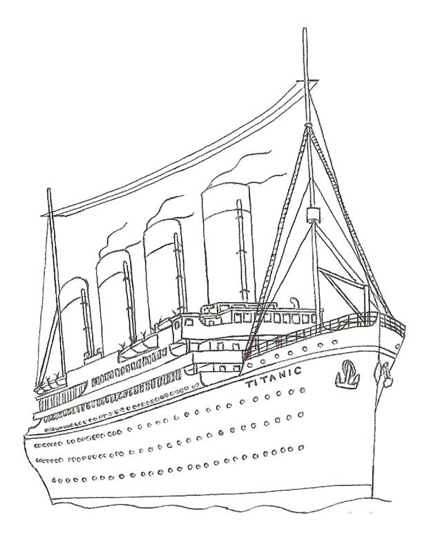 640x771 Fresh Titanic Coloring Pages Or Titanic Colouring Pages Page 3 14