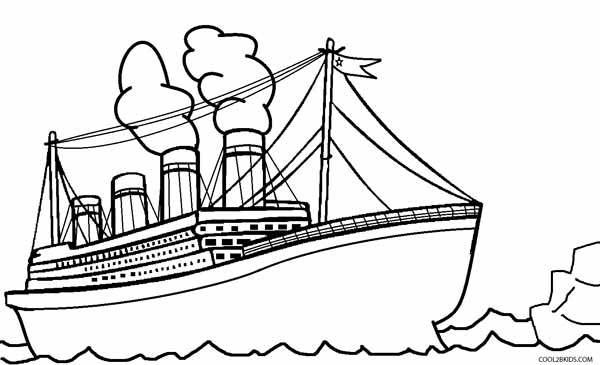 600x365 Printable Titanic Coloring Pages For Kids Cool2bkids