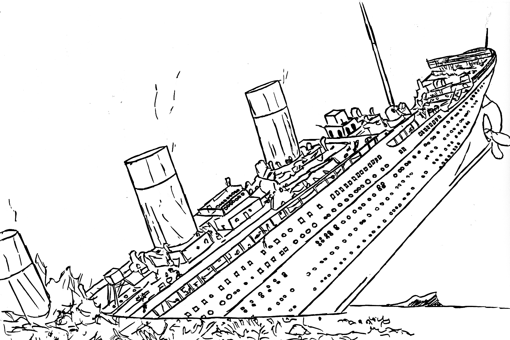 1733x1155 Titanic Coloring Pages For Fun Allmadecine Weddings