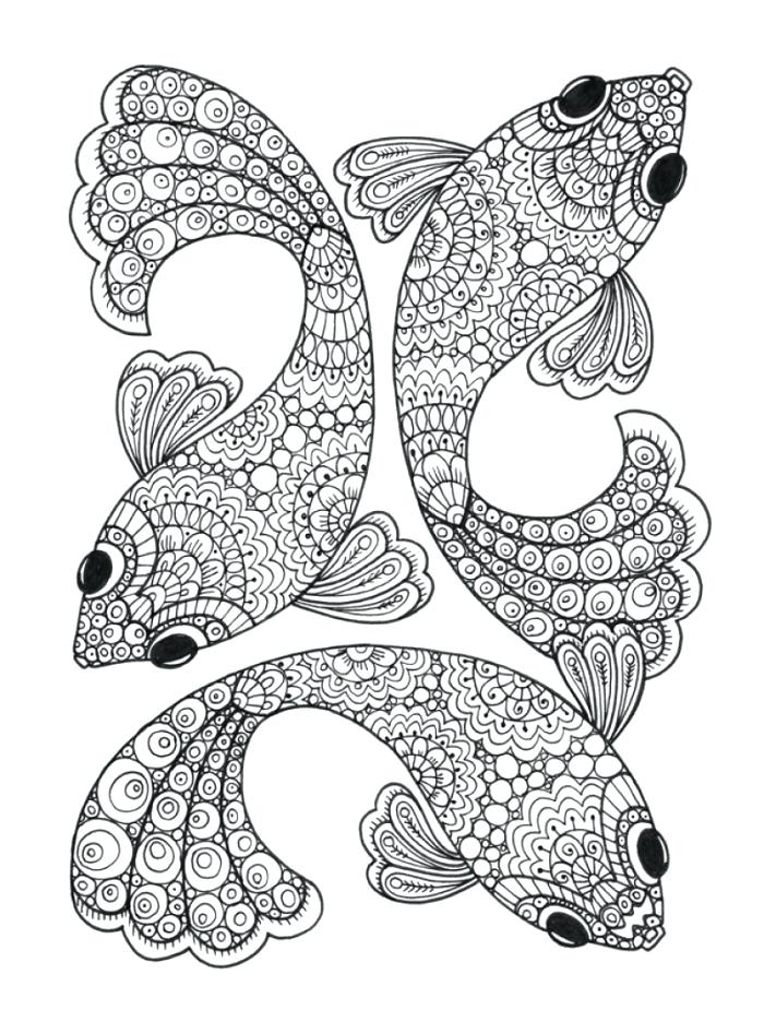 700x936 Coloring Page Of Fish Fishing Coloring Pictures Coloring Pages
