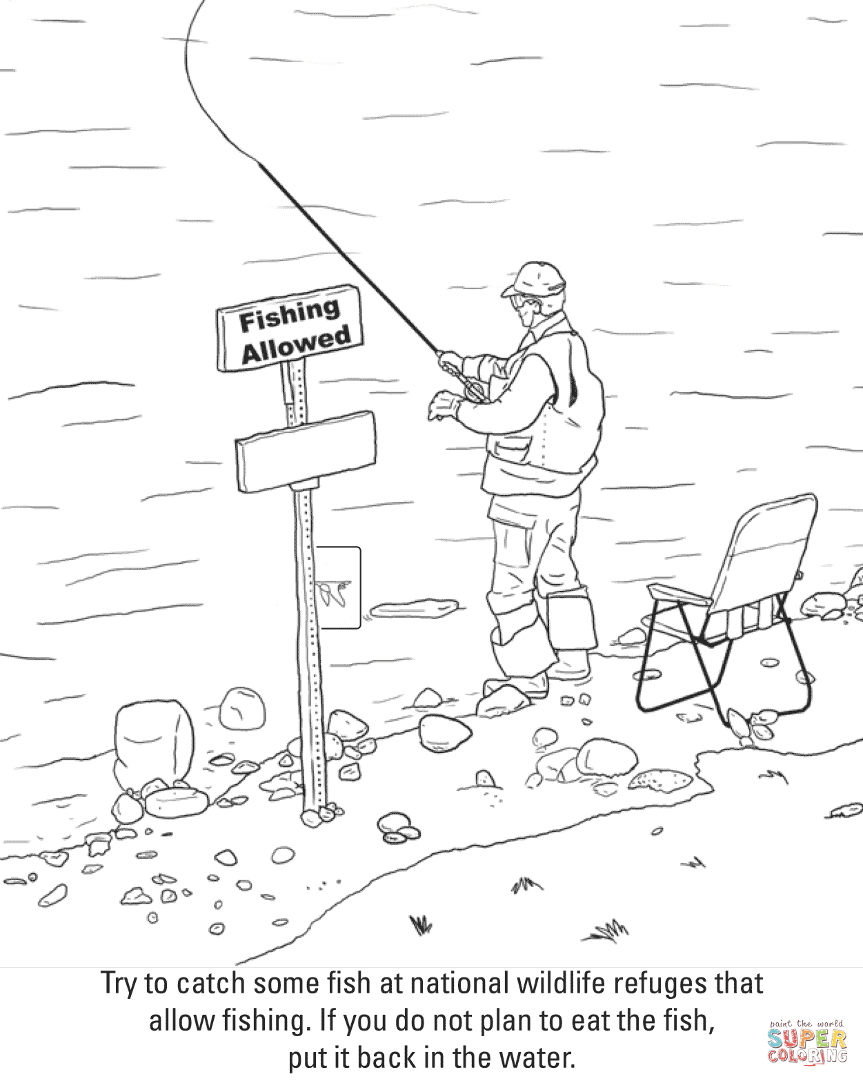 1251x1566 Fishing Coloring Page Free Printable Coloring Pages