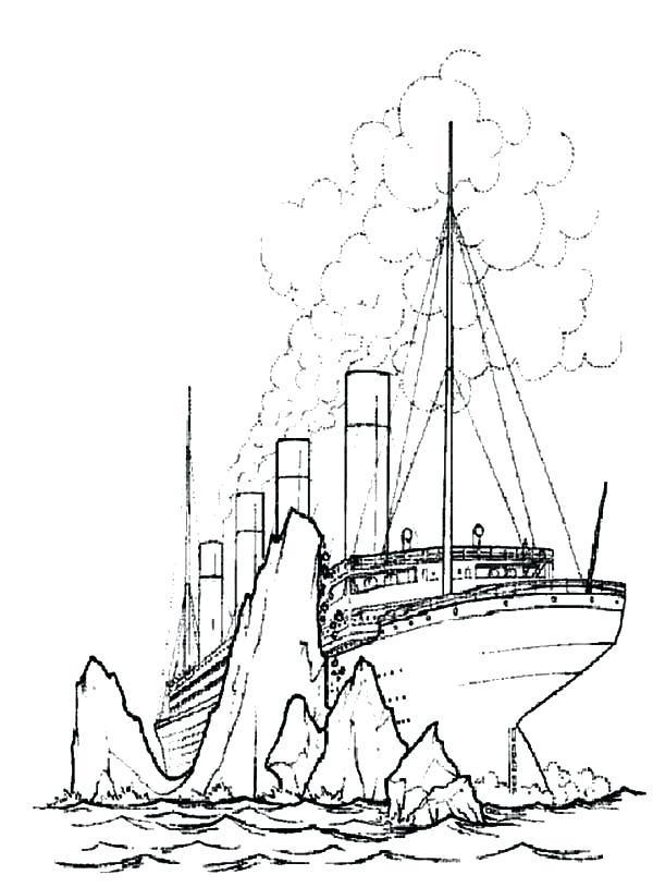 600x814 Top Rated Titanic Coloring Pages Pictures Titanic Crashing Giant